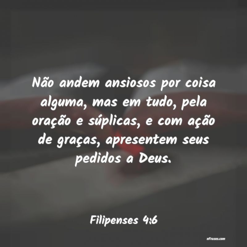 Frases de Filipenses 4:6